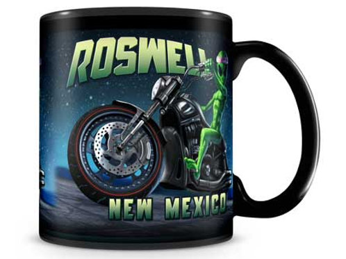 Roswell Alien Motorcycle Mug