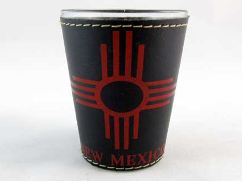 Leather wrapped ZIA shot glass