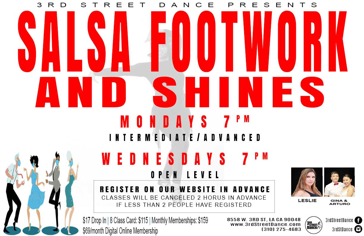 Salsa music has many layers, which makes it fun to improvise! Learn some footwork and shines to get creative on the dance floor.