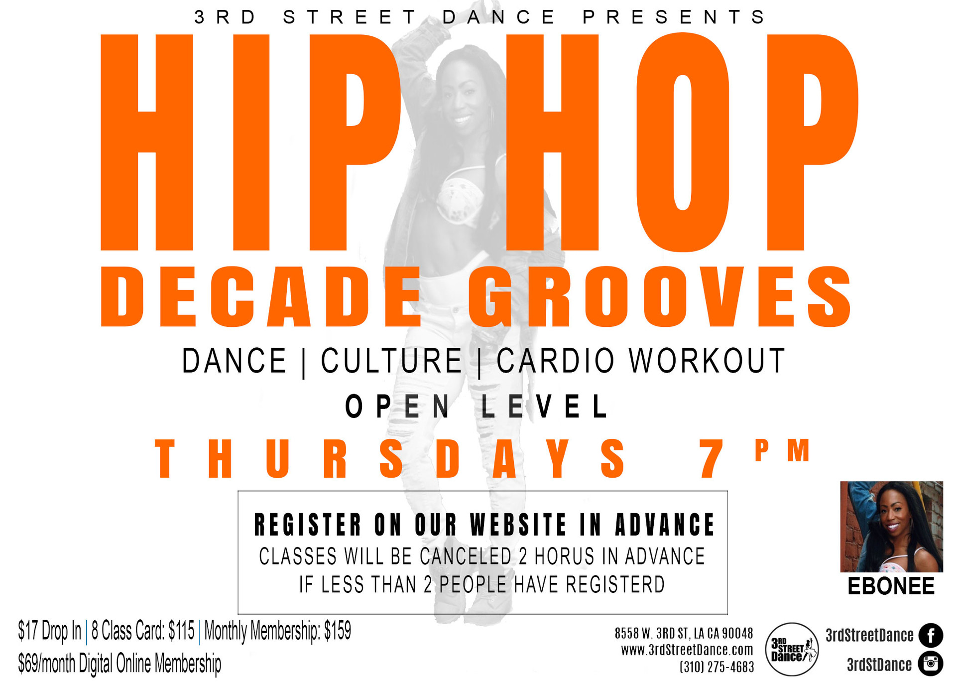 This Beginner friendly class is set to today's Top Hits! It is the perfect start to learning this popular street dance! You'll learn the basics and in-demand freestyle moves to take your dancing to the next level.