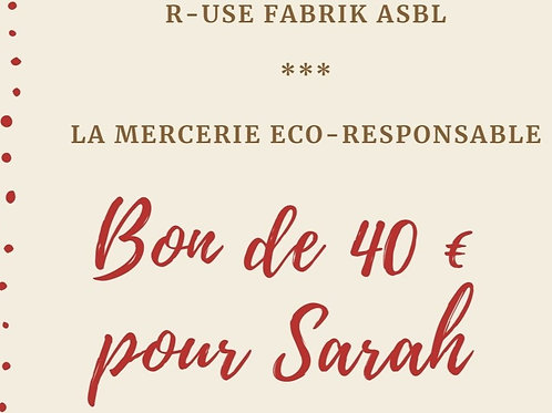 Bon cadeau - 40 € - Mercerie