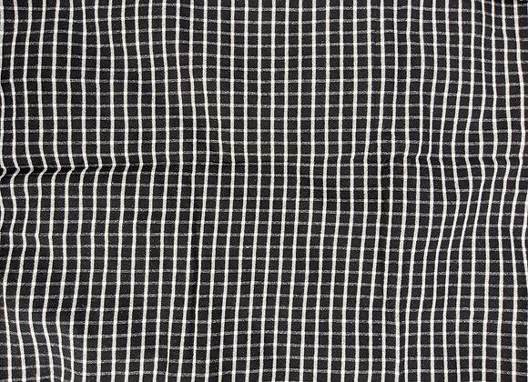 Tissu lainage quadrillé noir et blanc