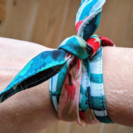 """1 Chute de tissus = 1 bracelet """"foulard de poignet"""""""