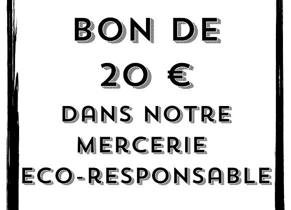 Bon cadeau - 20 € - Mercerie