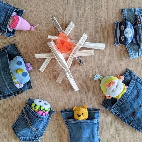 Des poches de pantalons = des sacs de couchage pour doudous