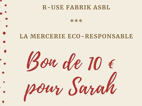 Bon cadeau - 10 € - Mercerie