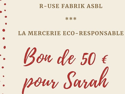 Bon cadeau - 50 € - Mercerie
