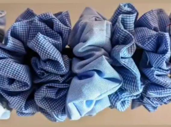 Chouchous fabriqués dans des chutes de chemises