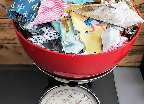 Chutes de tissus pour rembourrage (300gr)