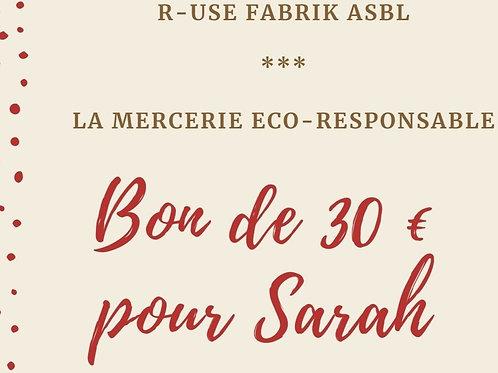 Bon cadeau - 30 € - Mercerie
