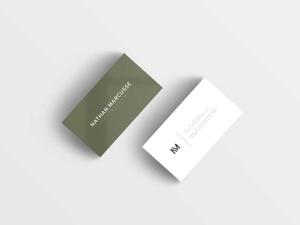 Grafisch ontwerp | visitekaartjes voor Nathan Marcusse