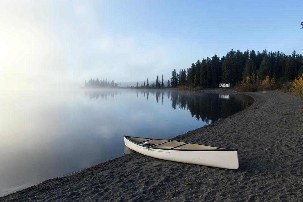 Kayak on the watersedge