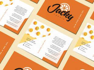 Grafisch ontwerp | Flyer voor Jacky Foodie