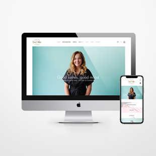 Salon Good Vibes | Strakke website & sierlijk logo