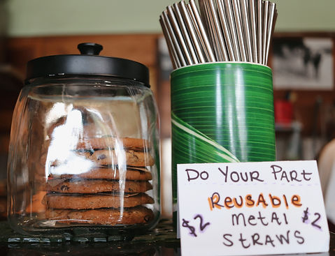 Cookies & metal straws