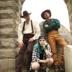 "Ross Shirley as ""Alexander Small,"" James Harper as ""Webster Carter III,"" and Sofia Friend as ""Logan"""