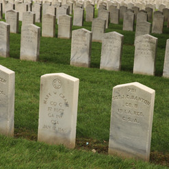 Headstones of Confederate Soldiers