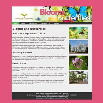 Blooms & Butterflies website