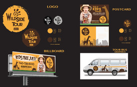 Collage of re-branding elements