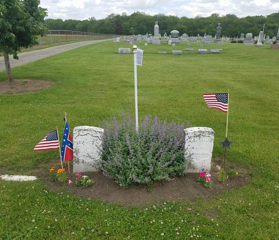 The graves of 'the turkey men.'