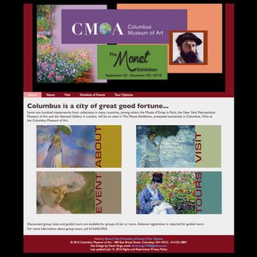 The Monet Exhibition website