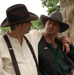 """Ross Shirley and James Harper as """"The Turkey Men"""""""