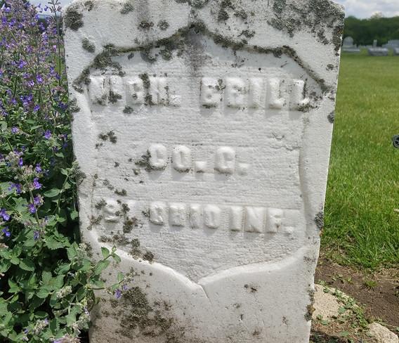 Headstone of Pvt. Nicholas Brill (Union Army)