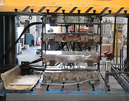 Hydraulic press closing.