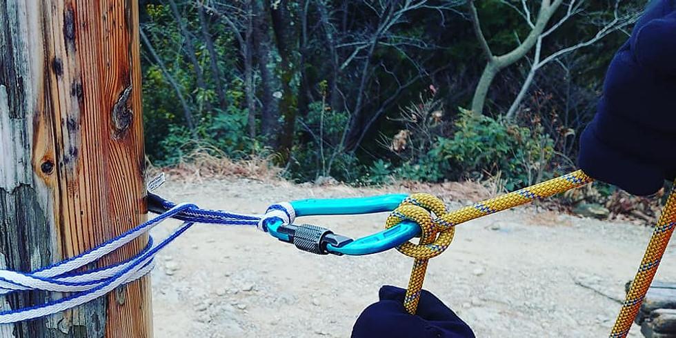 「登山のための…実践的ロープワーク講習」(@片倉城址公園)