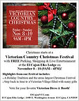 Victorian Country Christmas: November 8 - 10 (9AM - 4PM)