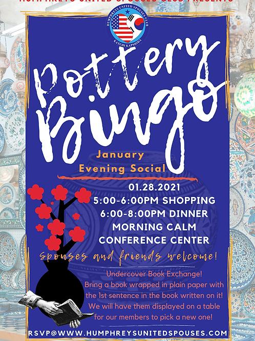 Pottery Bingo- January Evening Social