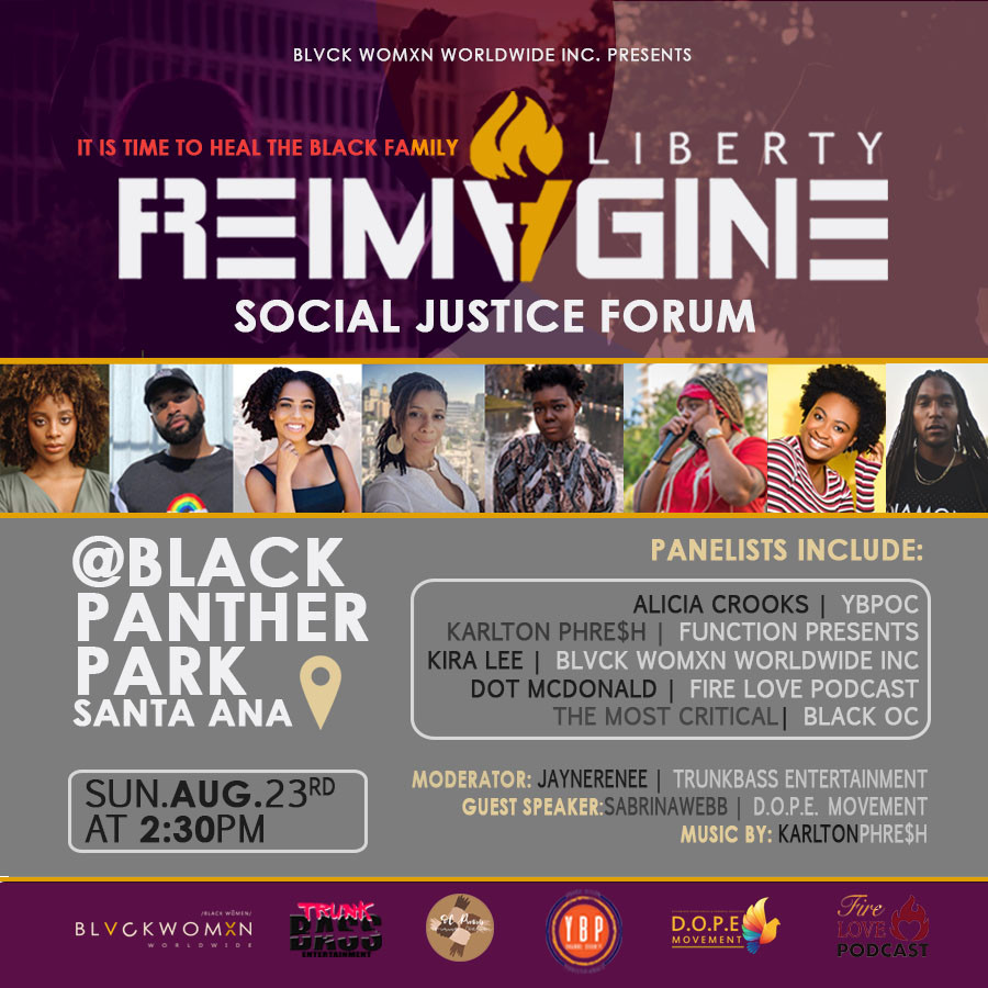 "Blvck Womxn Worldwide present the ""ReImagine Liberty"" Social Justice Forum"
