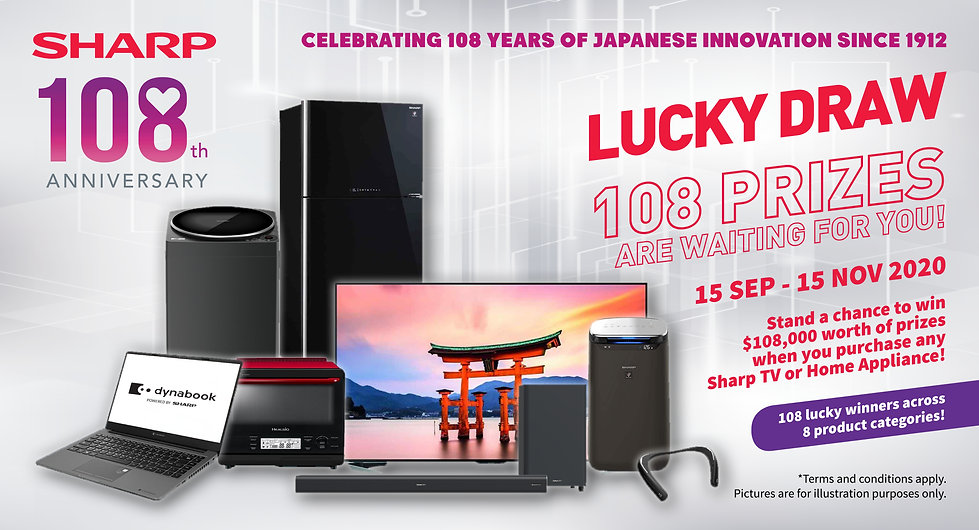 Sharp 108th Anniversary Lucky Draw Web B