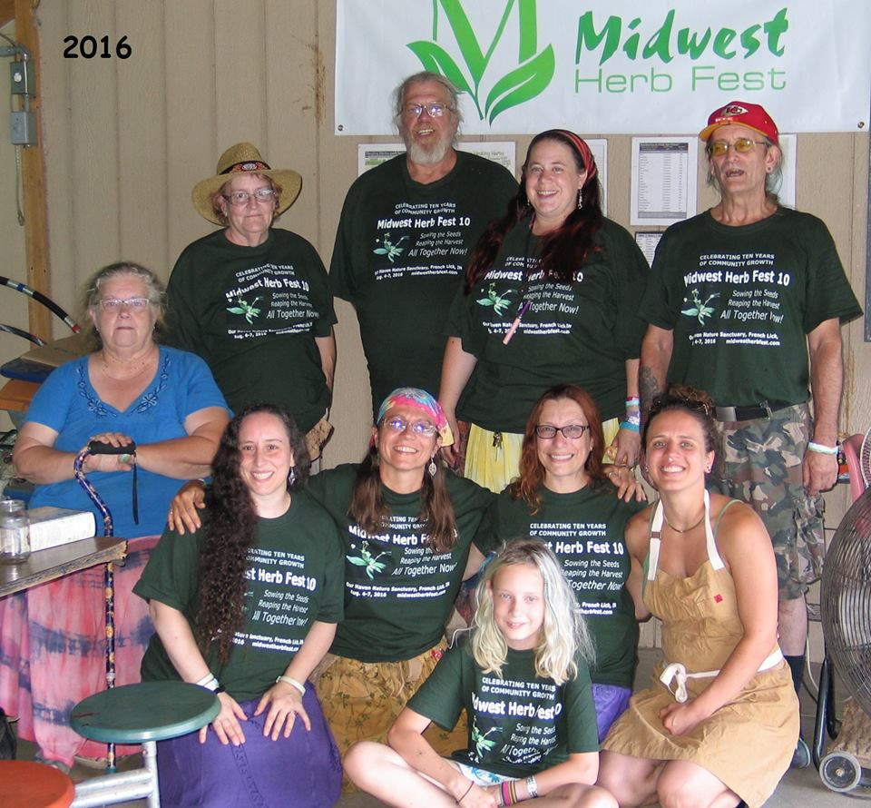 The organizers of Midwest Herb Fest pose for a photo after the 2016 event