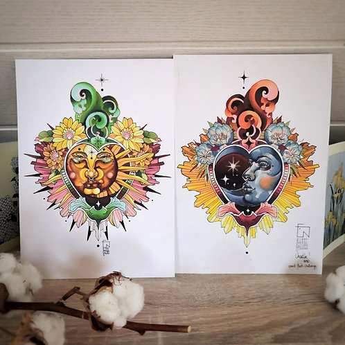 Duo Tutti Print - Lune & Soleil sacrés