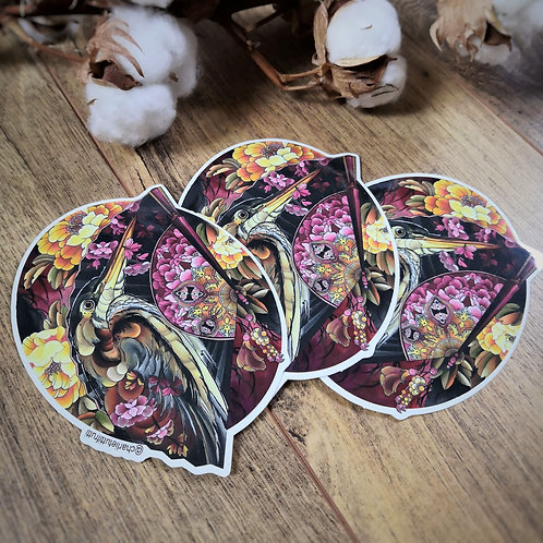 Tutti Stickers - Lot de trois Héron