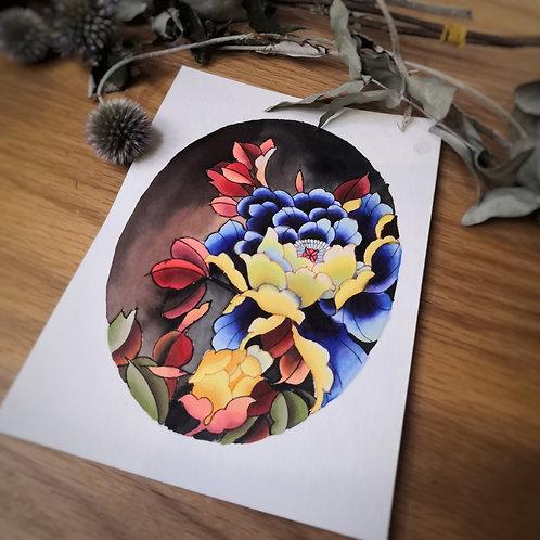 Ovale Fleuri