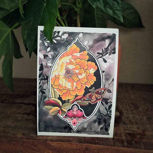 Tutti Carte postale -Pivoine jaune