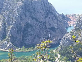 the river Cetina and the town of Omis in Croatia