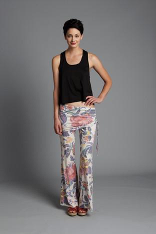 Rebecca Michaels floral fold over pant.j