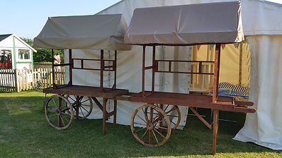 Wooden Carts | Dallas Event Services