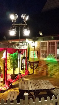 Outside Lighting on Stand | DallasEvent Services