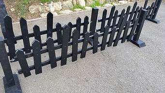 Black Picket Fencing | Dallas Event Services