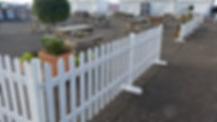 3ft White Picket Fencing | Dallas Event Services