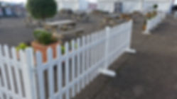 3ft White Picket Fence | Dallas Event Services