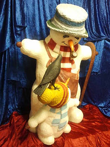 Snowman with Child | Dallas Event Services