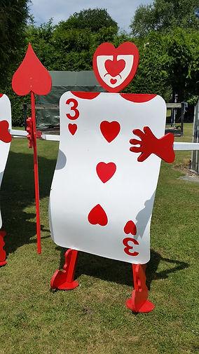 Alice in Wonderland Cardmen | Dallas Event Services