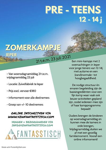 Zomerkampje PRETEENS - Made with PosterM