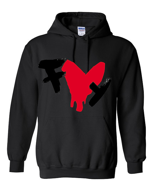 Dripping Heart  (FLY) Pullover Hooded