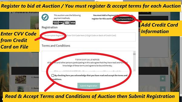 Register to bid on Lots / HiBid